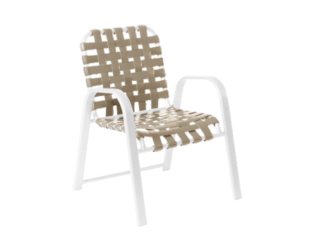 Siesta Cross Strap Stackable Dining Chair