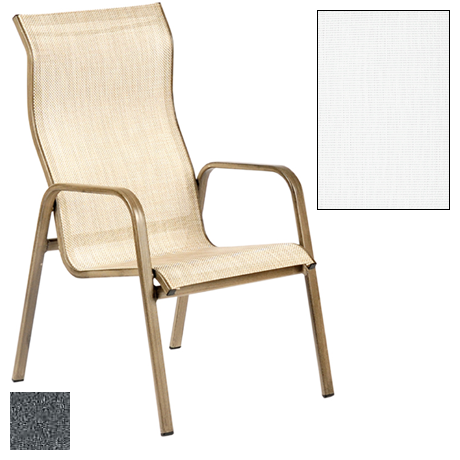 Siesta Sling Stackable High Back Dining Chair