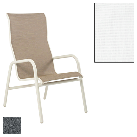 Lido Sling High Back Stackable Dining Chair