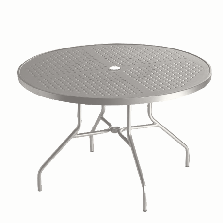 "Boulevard Pattern Aluminum 42"" Round Dining Umbrella Table"
