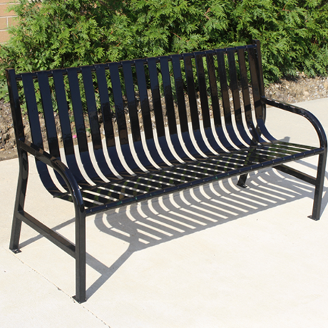 Powder Coated Steel Park Benches