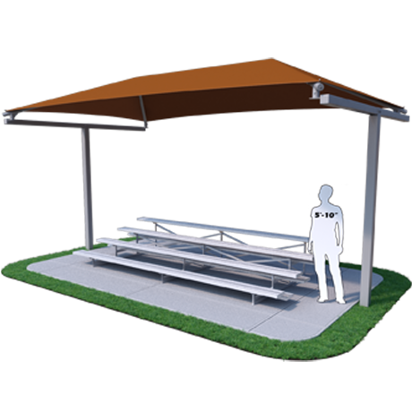 Bleacher Shades for Athletic Fields and Grandstands