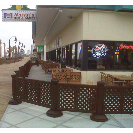Decorative Portable Patio Fencing for Outdoor Restaurant Areas