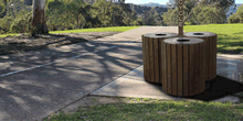 Trash Receptacles and Recycling Centers