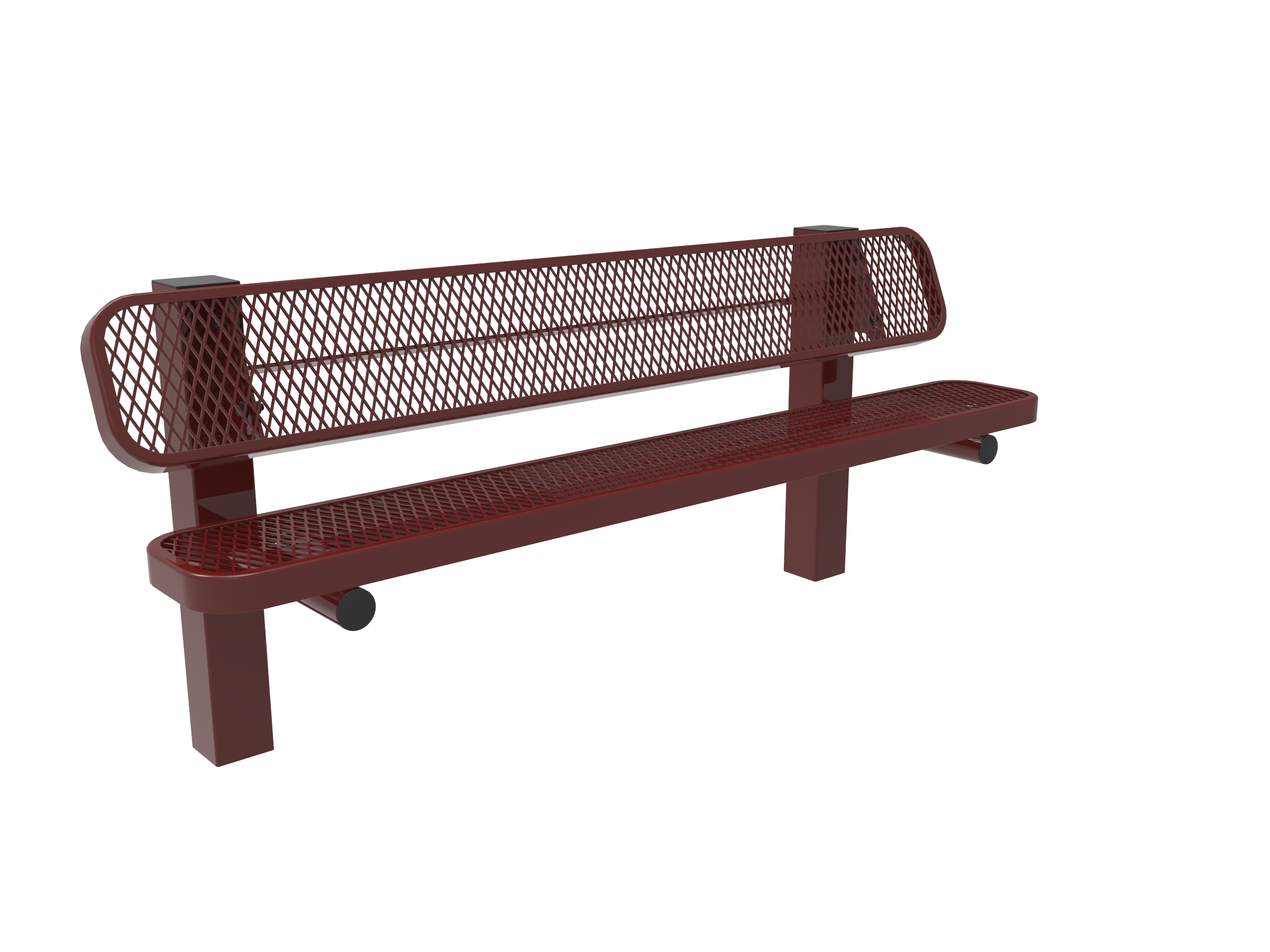 6' Lexington Pedstal Bench with Back