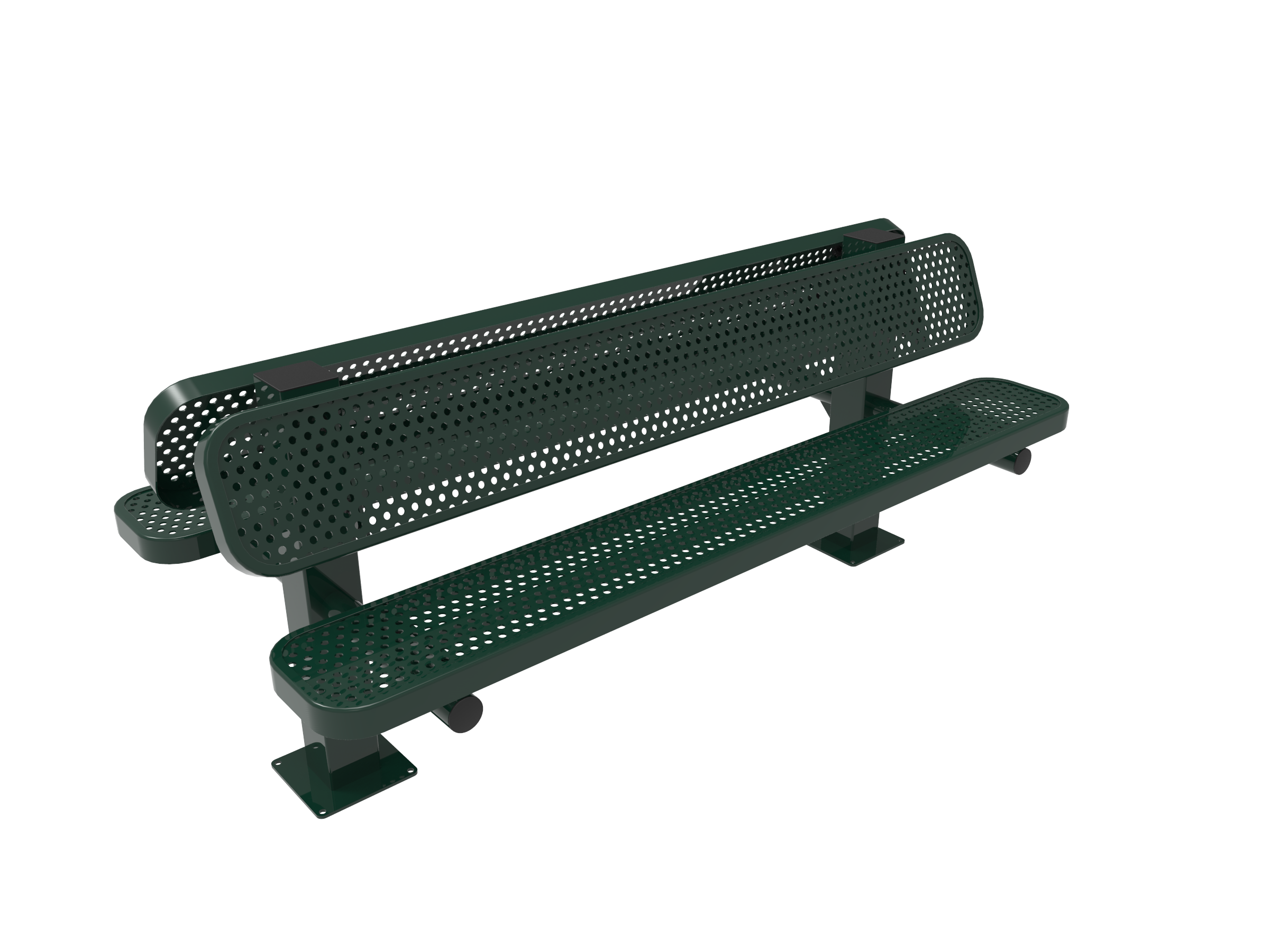 Rivendale Double Pedestal Bench with Back