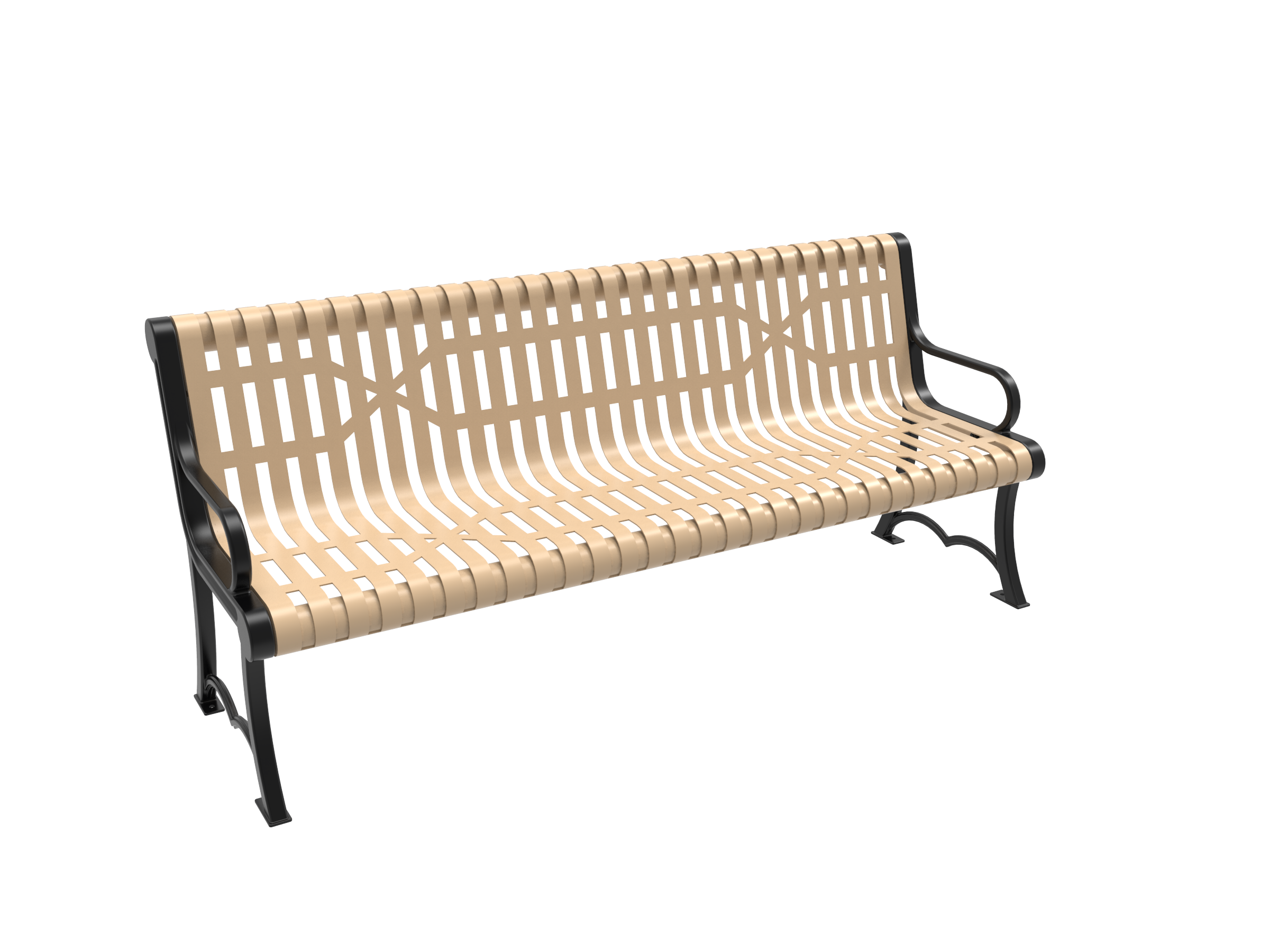 4' Austin Bench with Arm
