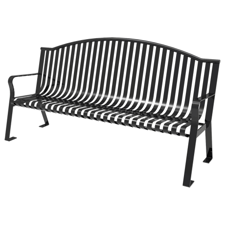 4' Skyline Bench With Arched Back