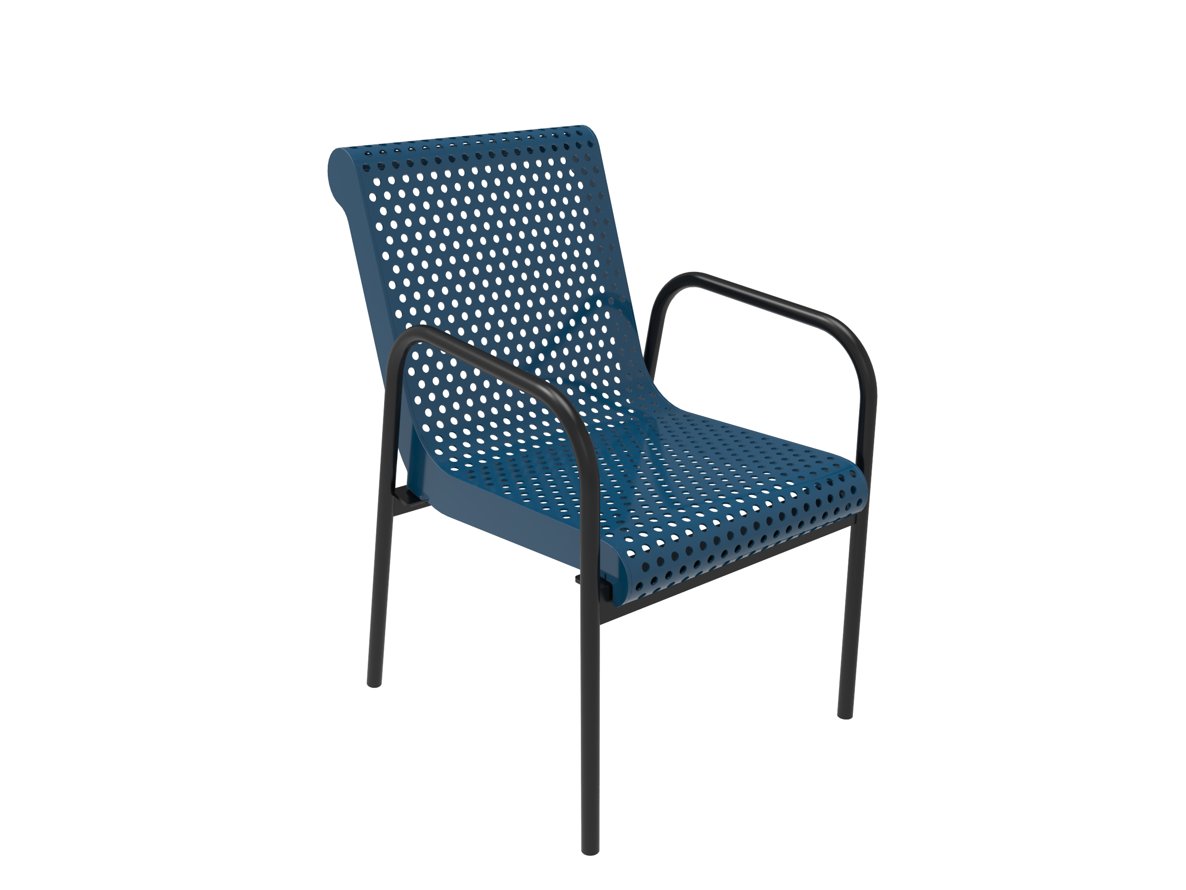 Rivendale Stacking Chair - Perforated Steel
