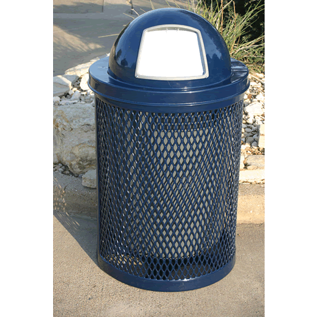 Lexington Trash Receptacle - Expanded Metal