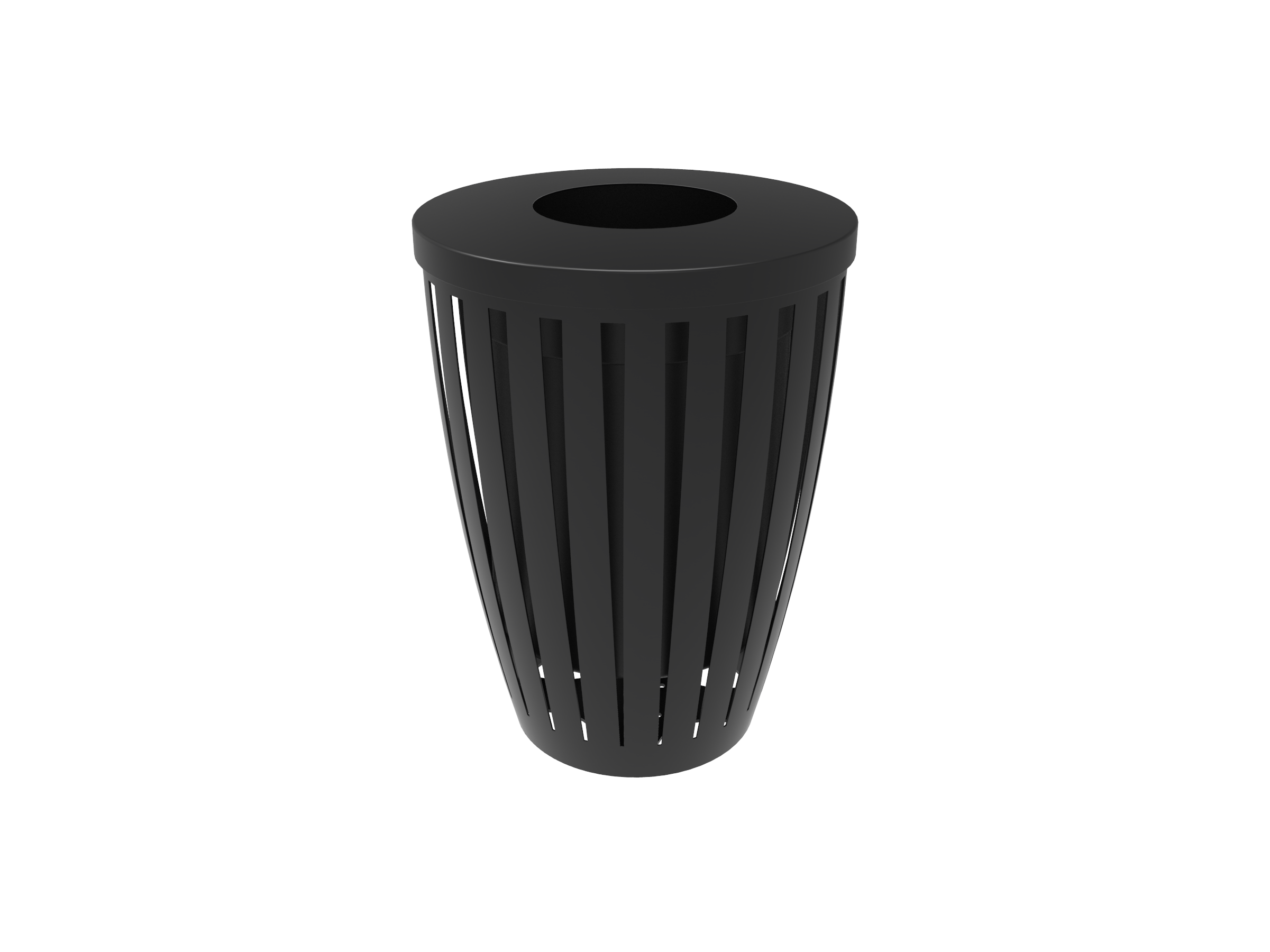 Lexington Downtown Tapered Trash Receptacle with Flattop