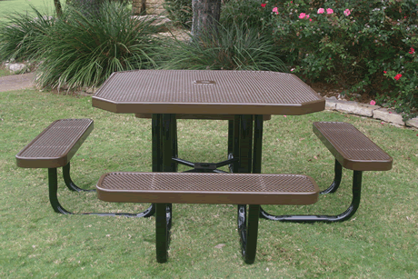 "46"" Lexington Octagon Portable Table, Punched Steel, Advanced DuraLex Coating"