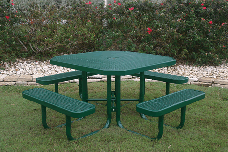 "46"" Lexington Octagon Portable Table, Expanded Metal, Advanced DuraLex Coating"