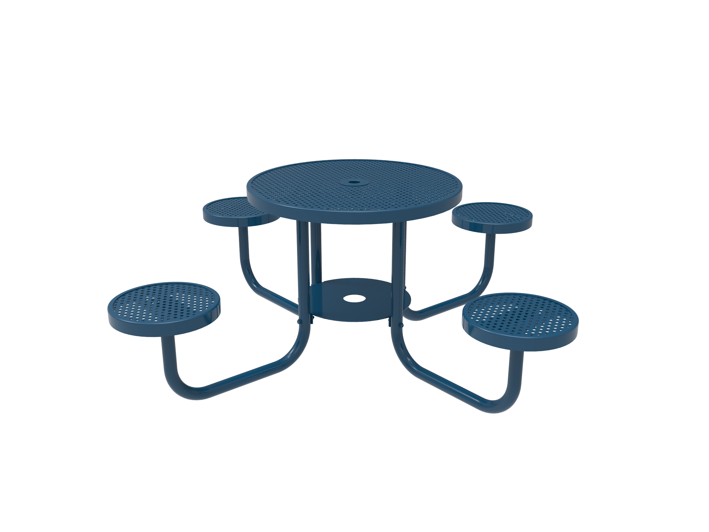 """36"""" Lexington Round Portable Patio Table with Attached Seats"""