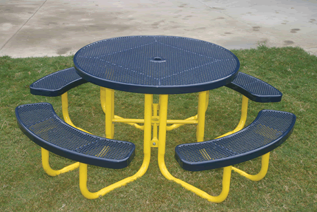 "46"" Rivendale Round Portable Table, Punched Steel, Standard Thermoplastic Coating"