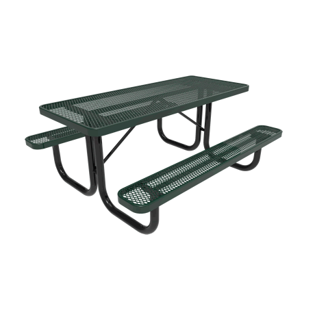 4' Rivendale Rectangular Portable Table, Expanded Metal, Standard Thermoplastic Coating