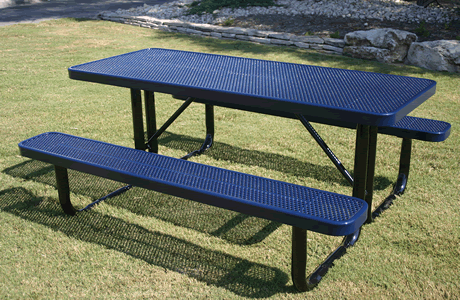 4' Lexington Rectangular Portable Table, Punched Steel, Advanced DuraLex Coating