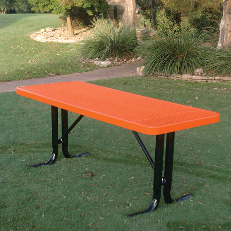 4' Rivendale Rectangular Utility Table, Expanded Metal, Standard Thermoplastic Coating