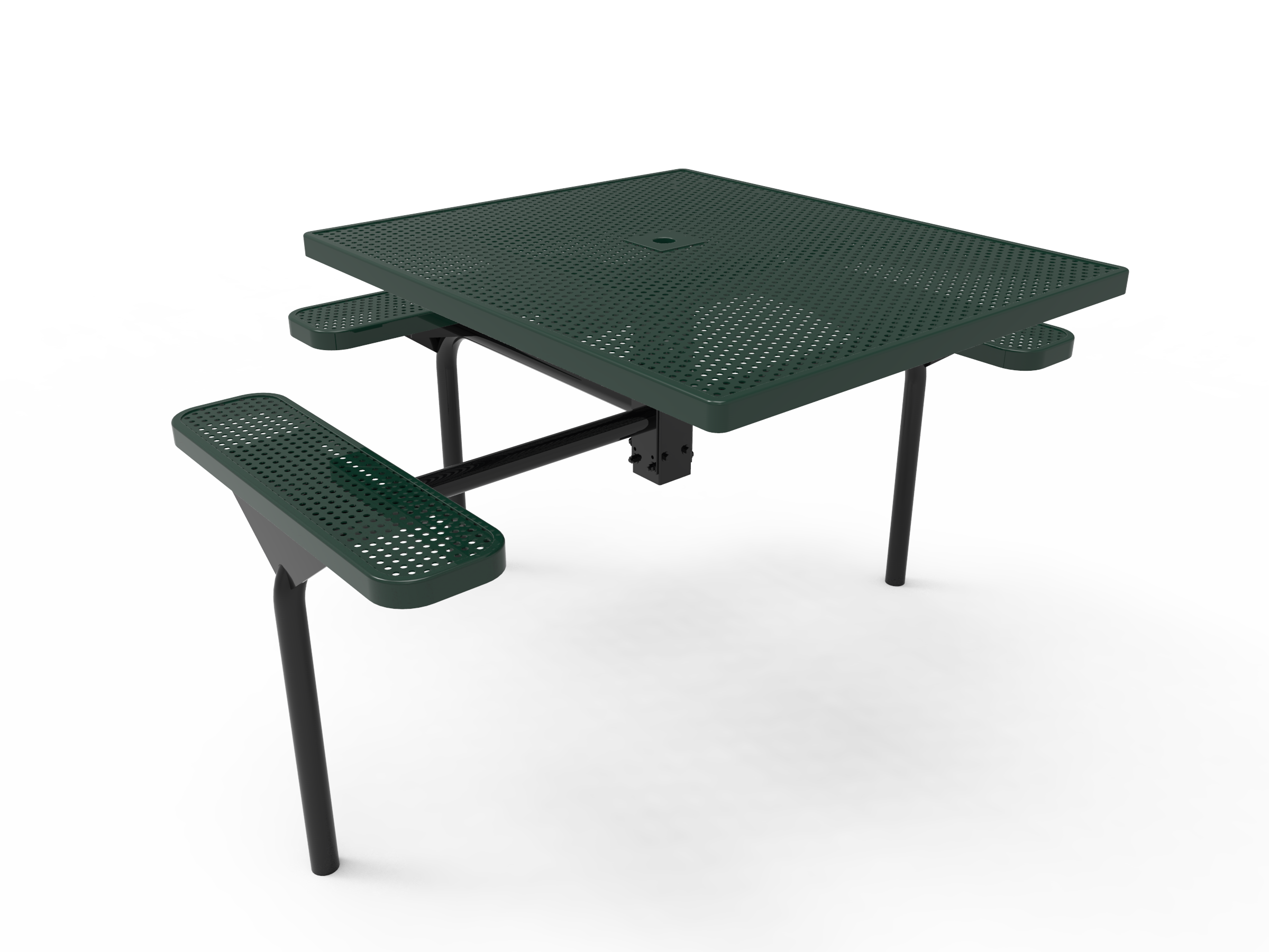 Lexington Square Nexus Pedestal Table - ADA Accessible, Frame with Powder Coat Finish, Top and Seats with Advanced DuraLex Coating