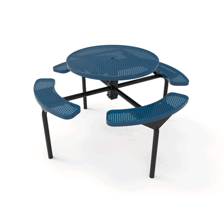 Lexington Round Nexus Pedestal Table, Frame with Powder Coat Finish, Top and Seats with Advanced DuraLex Coating