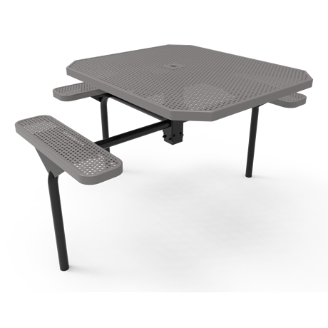 Lexington Octagon Nexus Pedestal Table - ADA Accessible, Frame with Powder Coat Finish, Top and Seats with Advanced DuraLex Coating