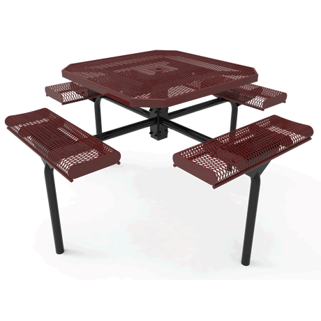 "46"" Octagon Lexington-Nexus Pedestal Table With Rolled Seats"