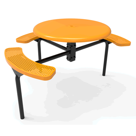 Lexington Octagon Nexus Pedestal Table with Solid Top - ADA Accessible, Frame with Powder Coat Finish, Top and Seats with Advanced DuraLex Coating