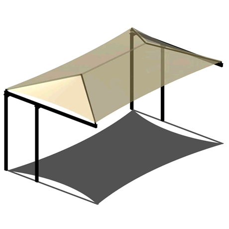Double Post Cantilever Hip 8EH x 19x20 Shade Structure