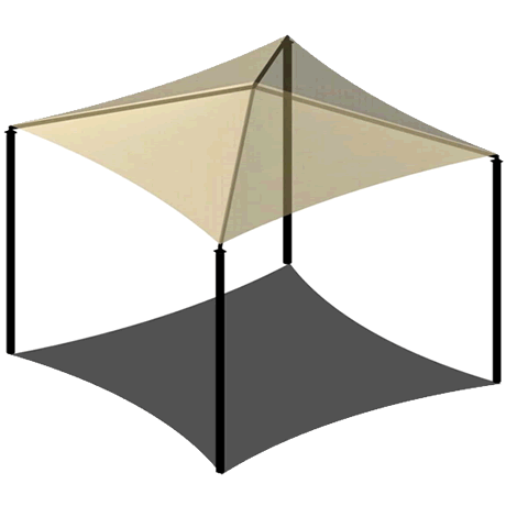 Four Post Pyramid 8EH x 10' Shade Structure