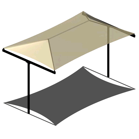 T-Post Hip 8EH x 8x14 Shade Structure