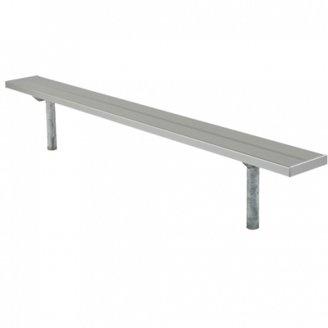Stationary Bench without Back, 2 3/8 In. O.D. Galvanized Tube, 2 In. x 10 In. Aluminum Plank-Benches and Glider Benches