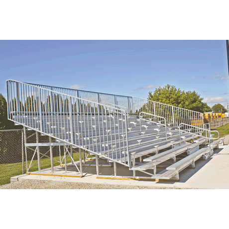 10 Row Deluxe Low Rise Non-Elevated Bleacher with Aluminum Frame