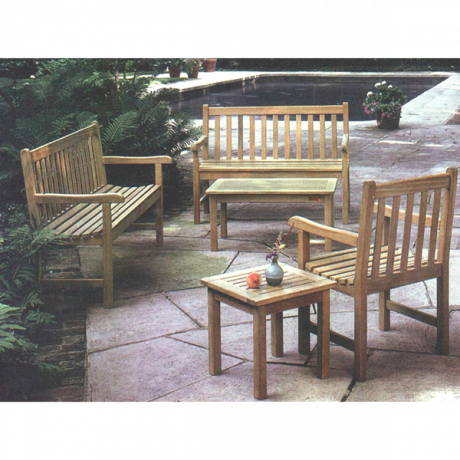 Shorea Wood Arm Chair-Chairs and Glider Chairs