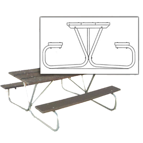 Cascade Picnic Table Frame (No Top Or Benches)