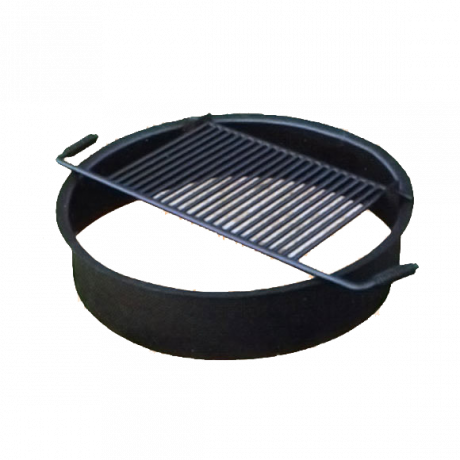 Fire Ring with Flip-Up Cooking Grate