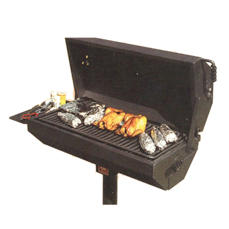 Covered Charcoal Grill-Grills