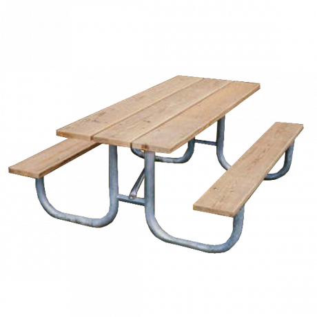 Shenandoah Style with Wood Plank Top-Picnic Tables