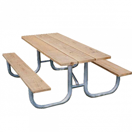 8' Shenandoah Picnic Table with Wood Plank Top And Benches