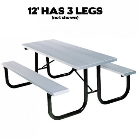 Shenandoah Style with Aluminum Plank Top-Picnic Tables
