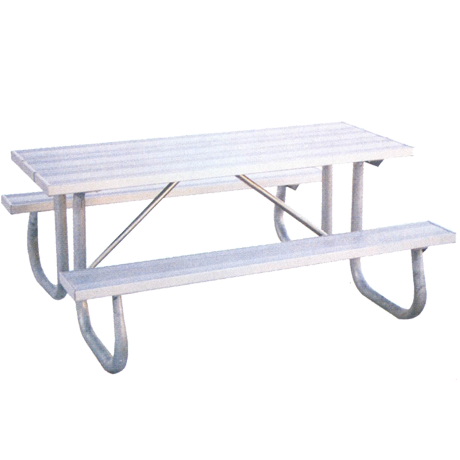 St. James Style with Aluminum Plank Top-Picnic Tables