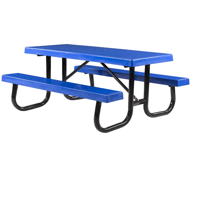 Shenandoah Welded Frame Picnic Table with Fiberglass Plank Top and Benches