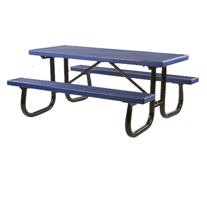 Shenandoah Welded Frame Picnic Table with Plastisol Coated Top and Benches
