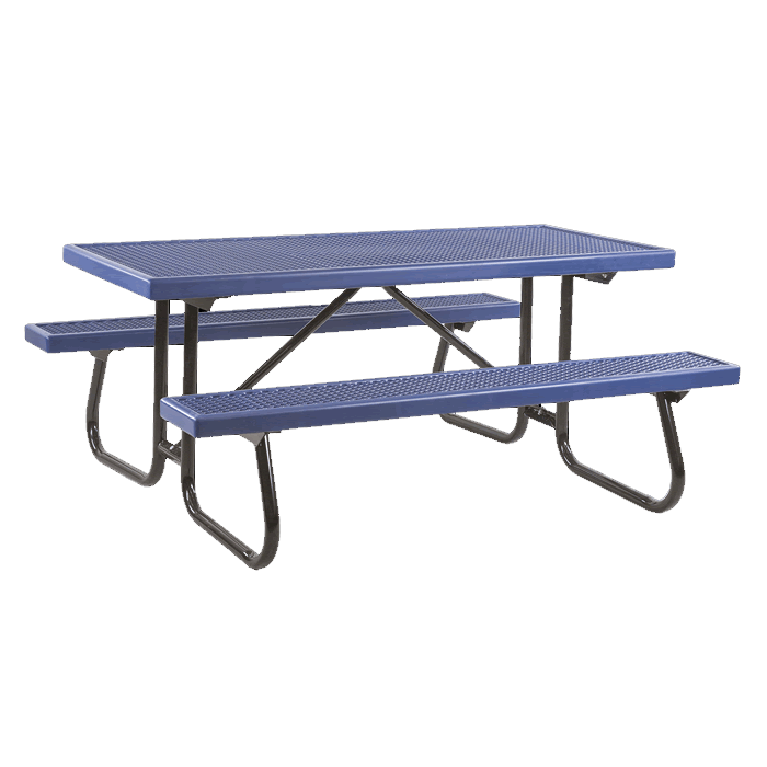 St. James Welded Frame Picnic Table with Plastisol Coated Top and Benches