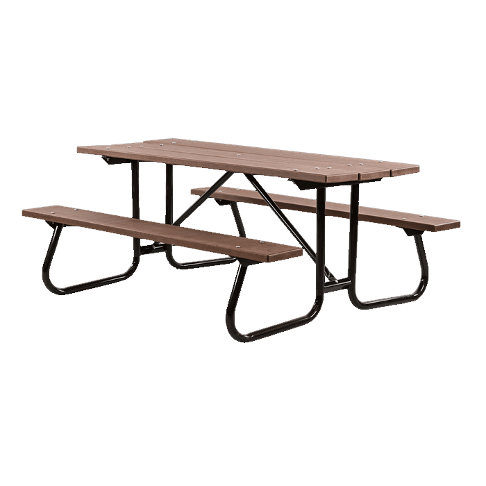 St. James Welded Frame Picnic Table with Recycled Plastic Plank Top and Benches