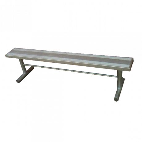 Portable Backless Bench with Aluminum Plank Seat