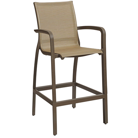Sunset Barstool - Fusion Bronze Frame with Cognac Sling