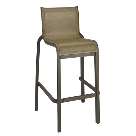 Sunset Armless Barstool - Fusion Bronze Frame with Cognac Sling