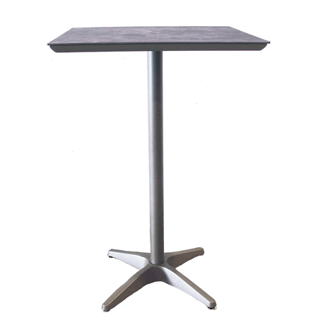Sunset Square Bar Height Table - Concrete Top on Platinum Gray Base