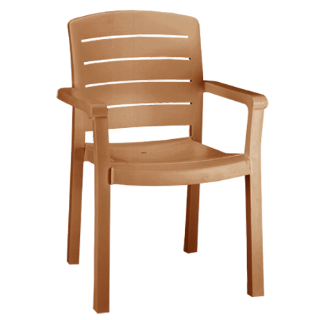 Acadia Stacking Armchair - Teakwood