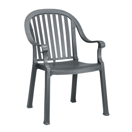 Colombo Stacking Armchair - Charcoal